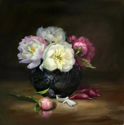 Peonies in a Bowl by Sonja A. Kever