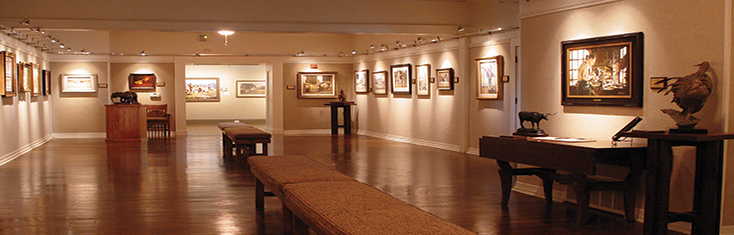 The Roland Jones Memorial Gallery houses an impressive collection of representational art.