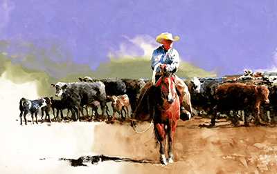 His Cattle by Don Weller